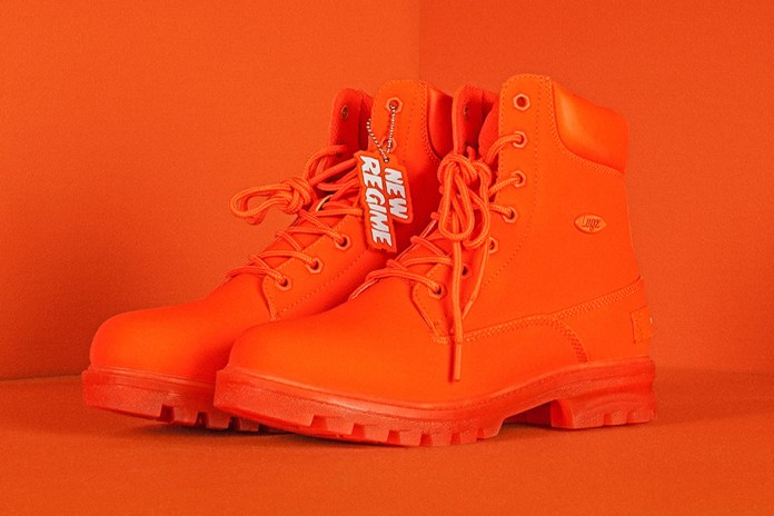 "Atelier New Regime and Lugz Join Forces on A ""Shock-Orange"" Work Boot"