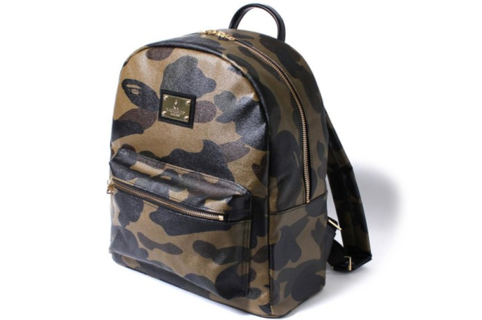 BAPE Reveals a Premium Leather Backpack Sporting Its Familiar Camo Pattern