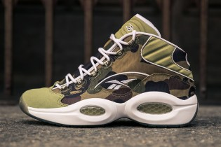 BAPE and mita sneakers' Limited Edition Reebok Question Mid Gets an Official Release Date