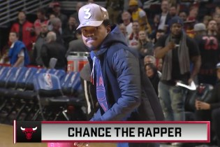 Chance the Rapper Plays Dodgeball With Chicago Mascots at Bulls Game