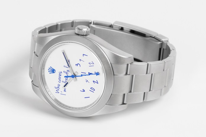 "colette Taps Mad Paris for A ""Who Cares"" Edition of the Rolex Milgauss"