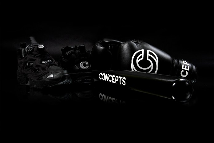 Concepts Blacks-Out the Reebok Instapump Fury