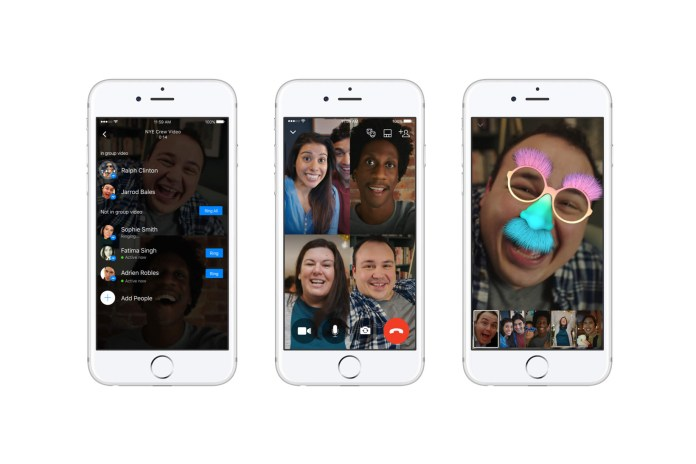 Facebook Messenger Launches Split-Screen Group Video Chat