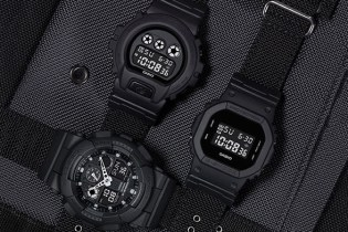 "G-SHOCK Gives Three Classic Models The ""Military Black"" Treatment"