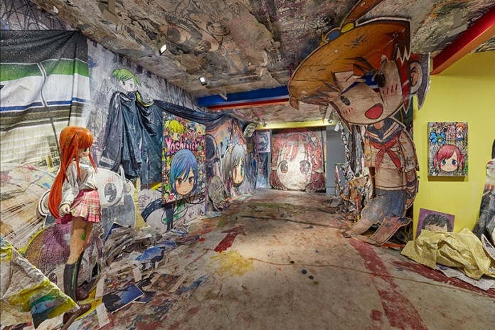 Mr. Transforms Galerie Perrotin's Seoul Outpost Into a War-Plagued Manga World
