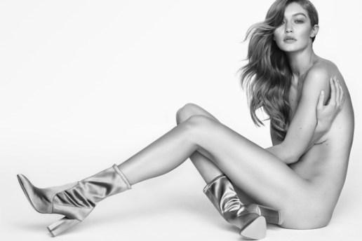 Gigi Hadid Posed Nude For Mario Testino's Stuart Weitzman Campaign