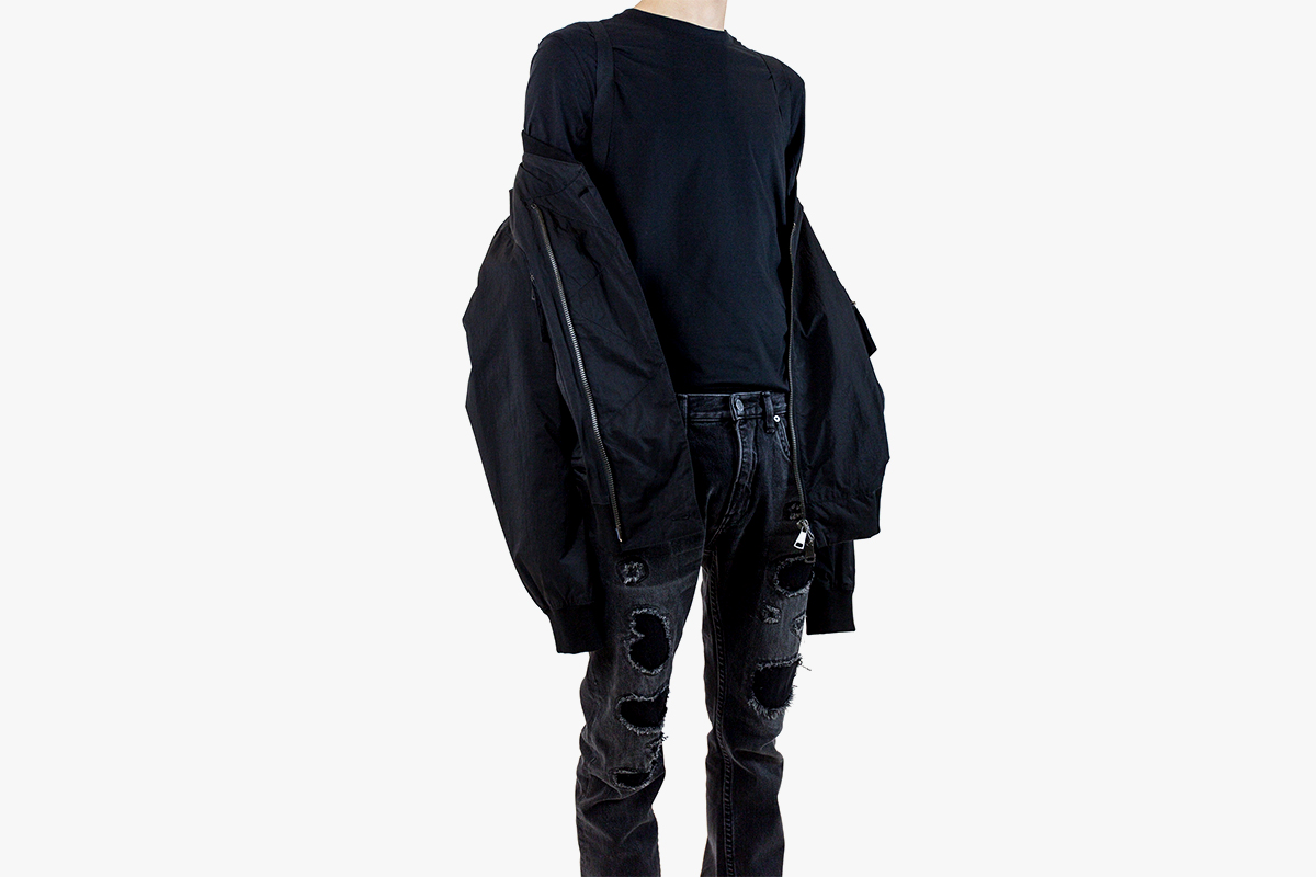 Helmut Lang Pre Spring 2017 Collection Archive Denim Bondage Strap