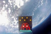 Artist Invader Shares ART4SPACE Video Where He Sends His Art to Space