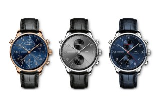 IWC Presents Three New Portugieser Chronograph Rattrapantes in Honor of Its European Flagships