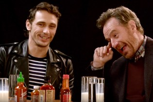 James Franco and Bryan Cranston Talk Facial Hair and Pre-Fame Life While Eating Hot Wings