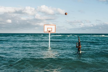 "John Margaritis Brings Basketball to the Beach & Ocean With His ""Hoop Dreams"" Live Installation"
