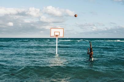 "John Margaritis Brings Basketball to the Beach & Ocean With His ""Hoop Dreams"" Live Installation"