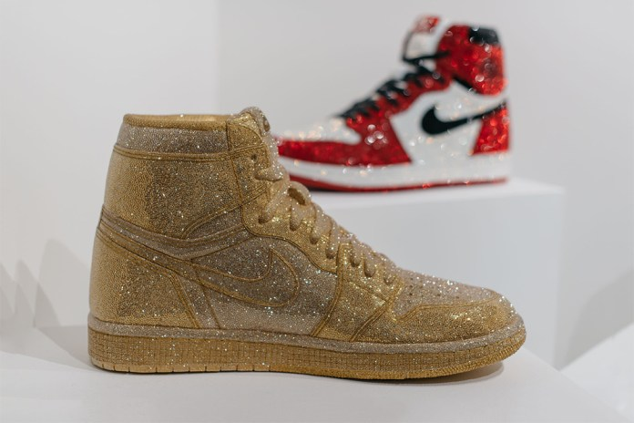 Who Designed These Swarovski Crystal-adorned Air Jordan 1s Seen at SCOPE Miami?