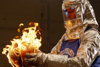 These Guys Recreated 'NBA Jam' in Real Life by Playing with a Flaming Basketball