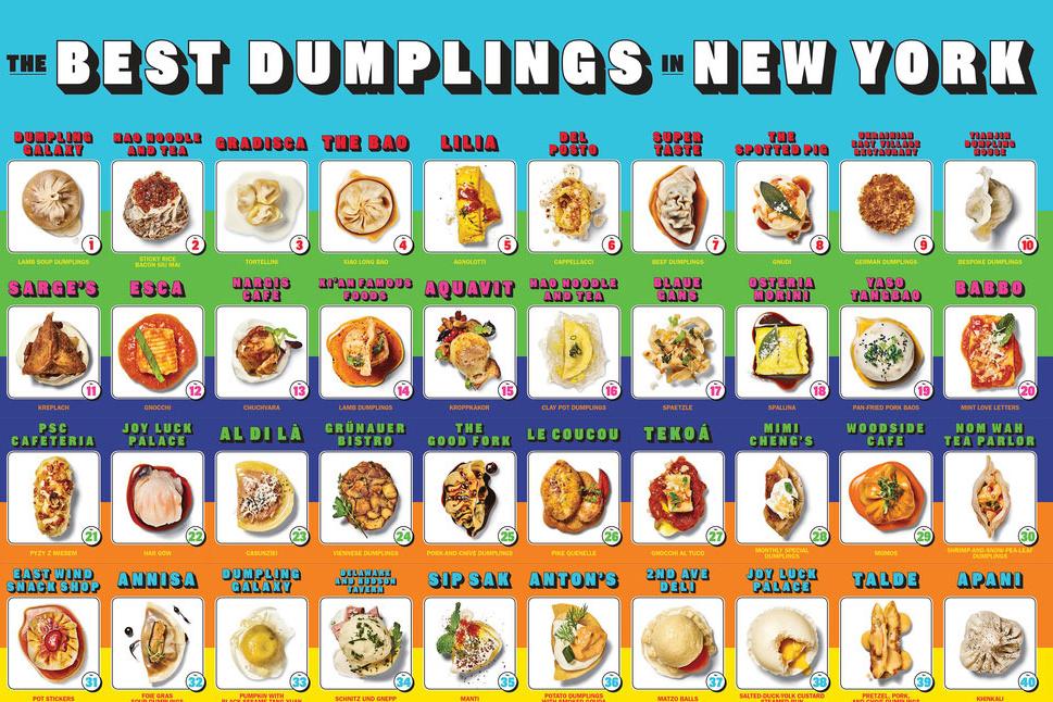 New York Magazine Best Dumplings Cards