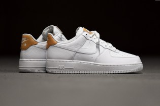 White Nike Air Force 1 Lows Get Upgraded With Hints of Vachetta Tan