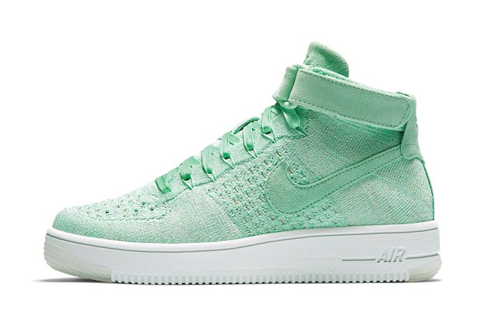 """The Nike Air Force 1 Ultra Flyknit Mid Gets An """"Enamel Green"""" Treatment"""