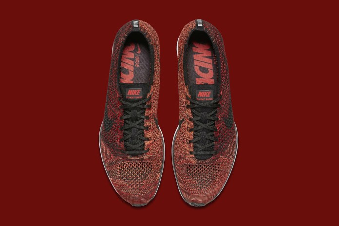 "Nike Unveils A ""University Red/Bright Mango"" Flyknit Racer"