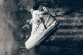 "Nike Wraps the Lunar Force 1 Duckboot In ""Ice White"""