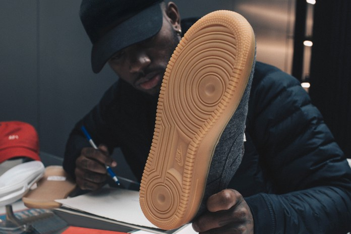 Nike Welcomes Bryson Tiller to the Swoosh Fam via an Intimate Air Force 1 Bespoke iD Studio Session