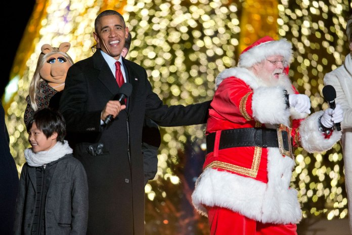 "Watch Obama Sing ""Jingle Bells"" With Chance The Rapper"