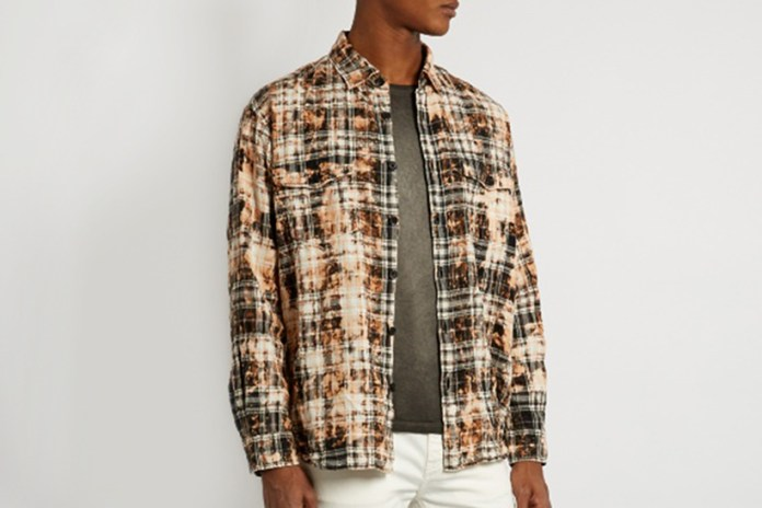 Saint Laurent's Bleached Checked Shirt Will Add Some Flair to Your Wardobe This Winter