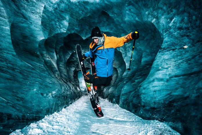 This Impressive Valley Glacier Becomes the Perfect Playground for Free Skier Sam Favret