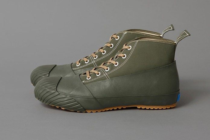 "STUSSY Livin' GENERAL STORE x MoonStar Release the GS Rain Shoes in ""Fatigue Green"""