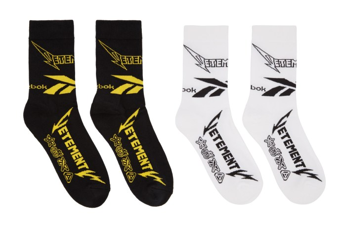 Vetements x Reebok Release an Exclusive Sock Collection