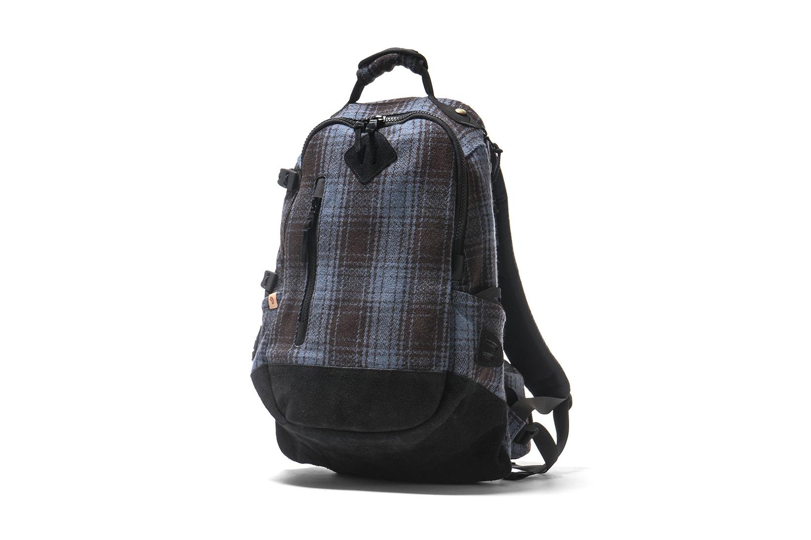 visvim Buffalo Check 20L Backpack Navy - 1827047