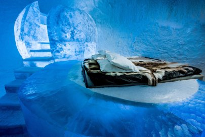 Stay at the World's First Permanent Ice Hotel