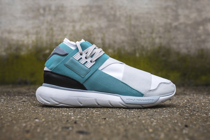 "Y-3's High-Top Qasa Is Back In ""Crystal White/Vapour Steel"""