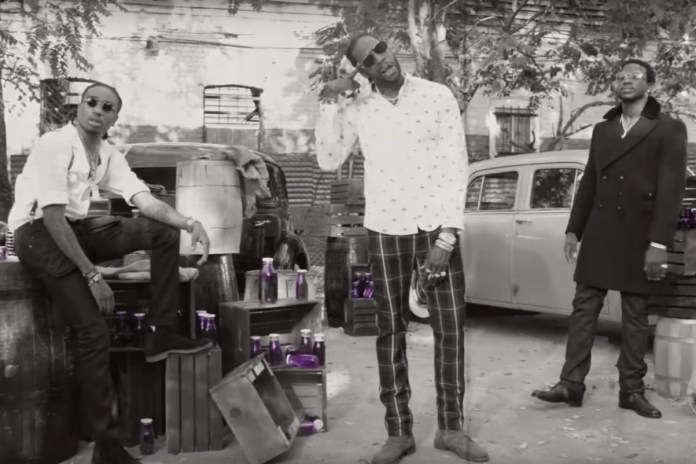 "2 Chainz, Gucci Mane & Quavo Travel Back in Time in ""Good Drank"" Video"