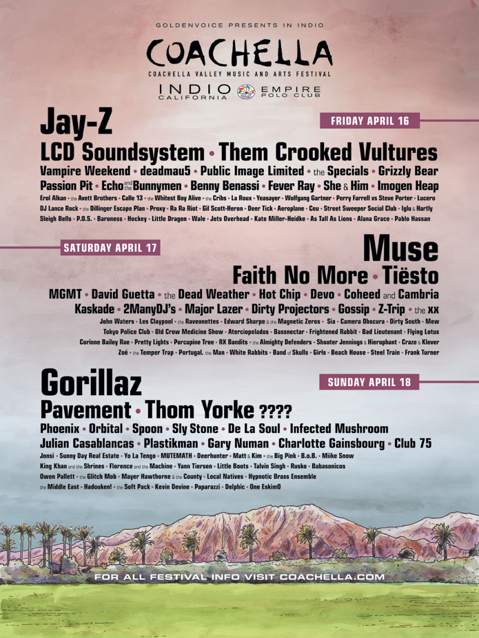 Here Are All of Coachella's past Lineups 2017 Kendrick Lamar Beyonce Radiohead