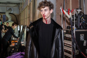 London Fashion Week Men's: Backstage at Matthew Miller