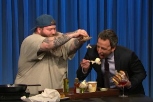 Watch Action Bronson Chef up a Black Truffle Burger on 'Late Night With Seth Meyers'
