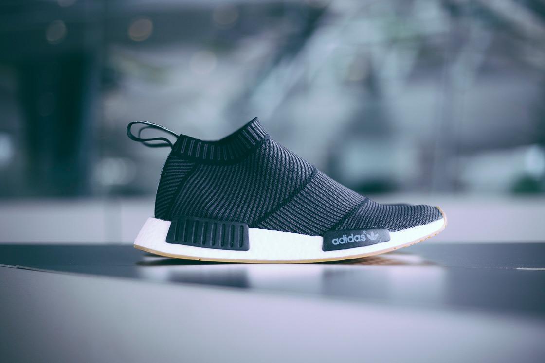adidas Originals NMD City Sock Gum Sole Black White - 1845070
