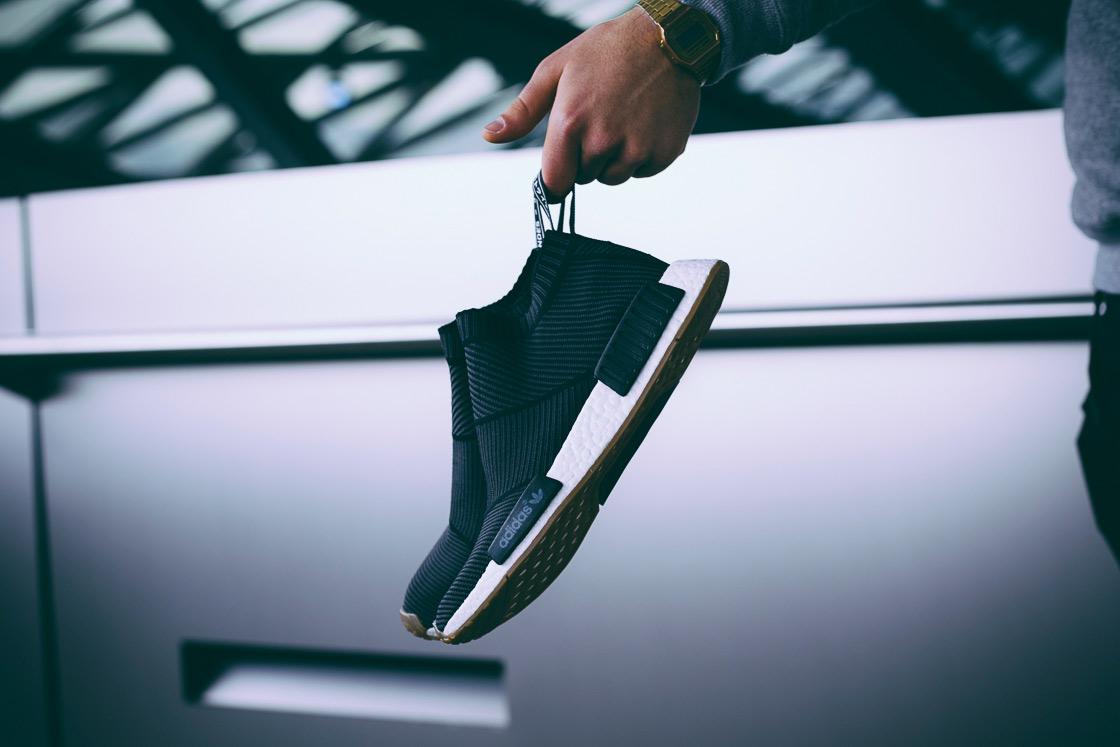 adidas Originals NMD City Sock Gum Sole Black White - 1845071