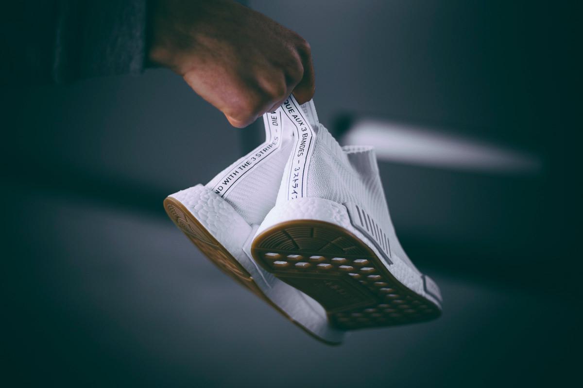 adidas Originals NMD City Sock Gum Sole Black White - 1845074