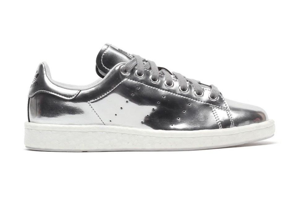 adidas originals stan smith boost metallic silver sneaker. Black Bedroom Furniture Sets. Home Design Ideas