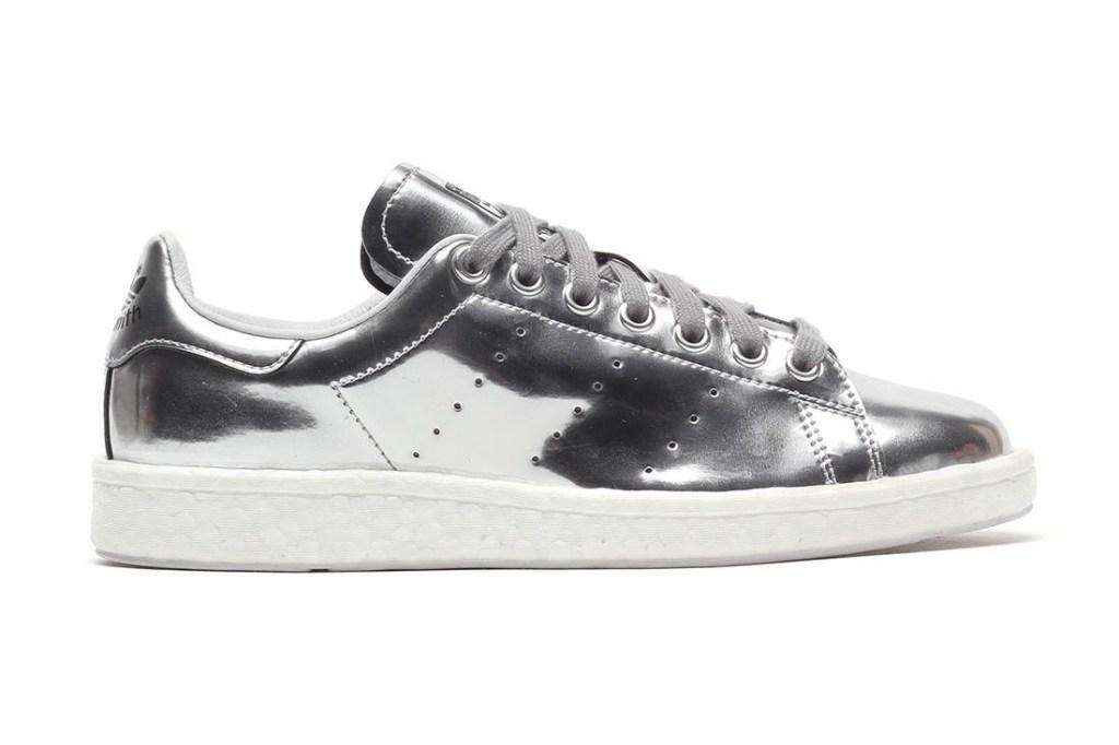 adidas originals stan smith boost metallic silver sneaker hypebeast. Black Bedroom Furniture Sets. Home Design Ideas