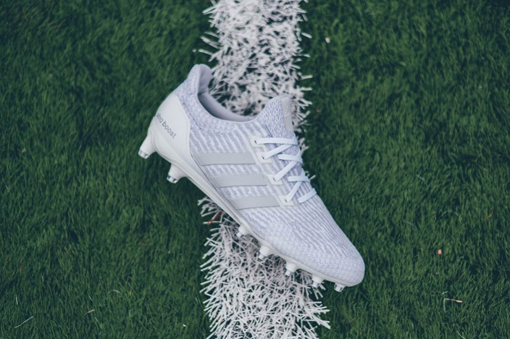 """adidas Gives the UltraBOOST Cleat The """"Triple White"""" Treatment"""