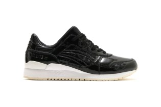 ASICS Covers the GEL-Lyte III in Black Patent Leather