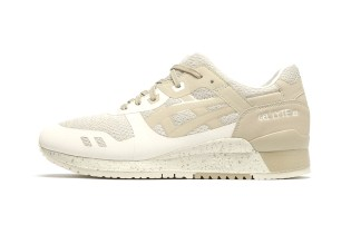 """ASICS Wraps the GEL-Lyte III in A """"Sandy Tan"""" Colorway for Spring"""