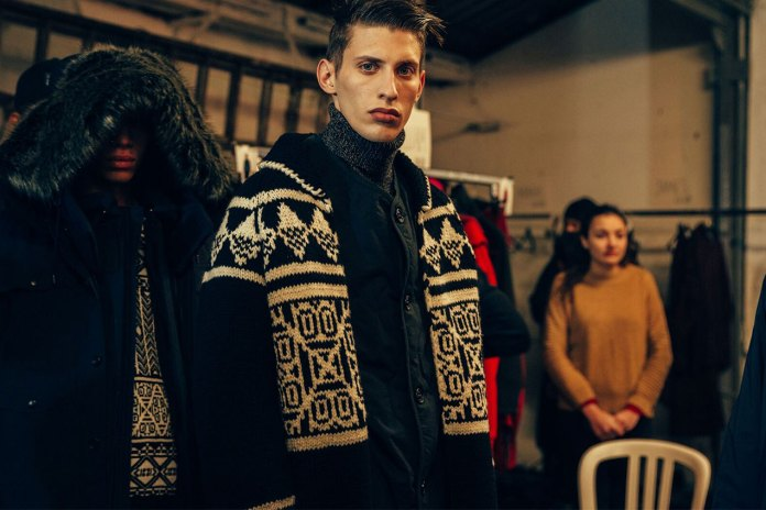 Backstage at White Mountaineering's 2017 Fall/Winter Show