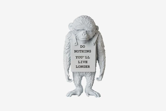 "Banksy x Medicom Toy ""Monkey Sign"" Statue"
