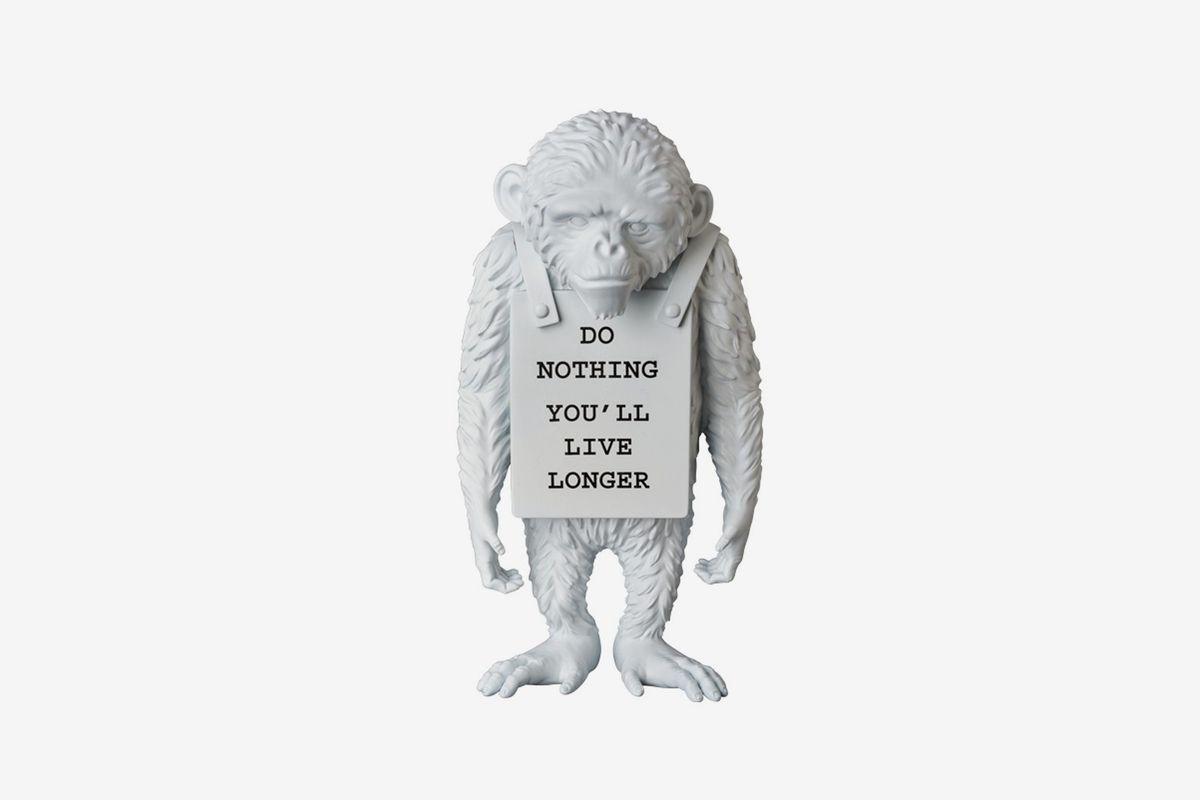 Banksy Medicom Toy Monkey Sign Statue