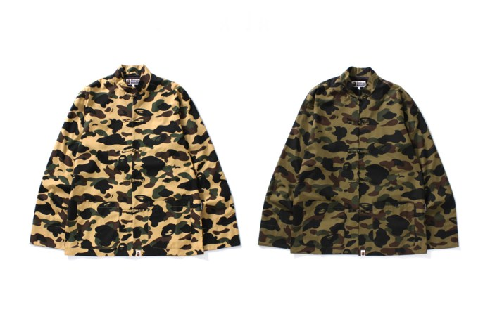 "BAPE Reinterprets the Traditional Kung Fu Jacket In ""1st Camo"""