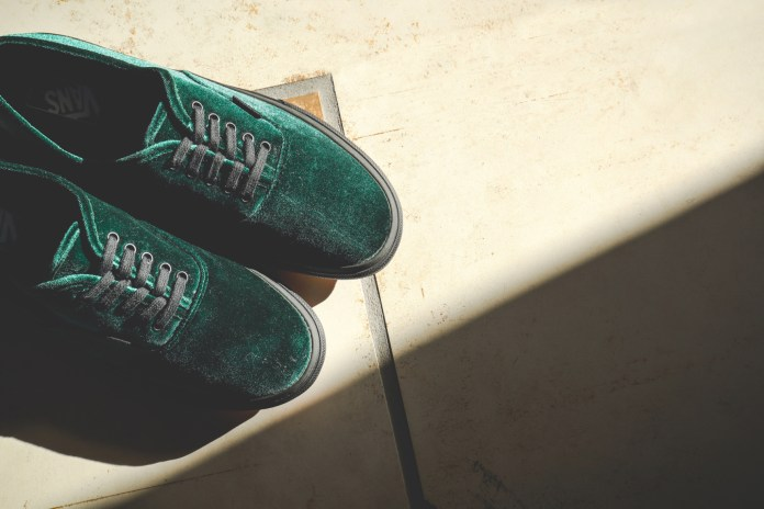 BILLY'S TOKYO Revamps the Vans Authentic With Luscious Velvet