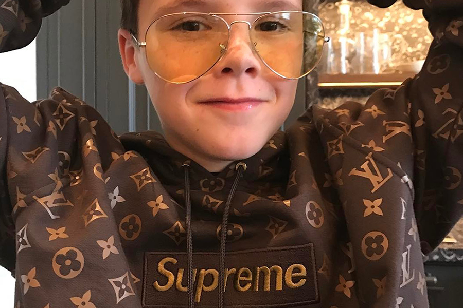 cruz beckham takes to instagram to tease his supreme x. Black Bedroom Furniture Sets. Home Design Ideas